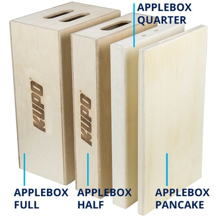 Grosse cale KUPO Apple Box Full 1/2 - Hauteur 8'' ou 20 cm