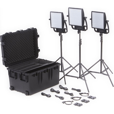 Kit de 3 Panneaux Led LITEPANELS 1 Astra 6X Bi-Color et 1 Astra Soft