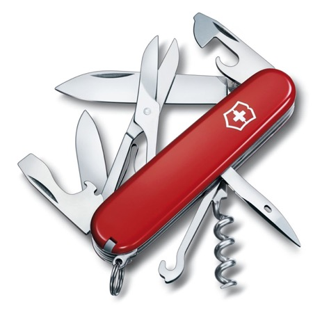 Couteau Suisse VICTORINOX Climber rouge 15 fonctions