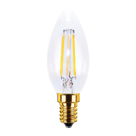 AMPOULE DECO LED TRANSPARENTE, MODELE BOUGIE