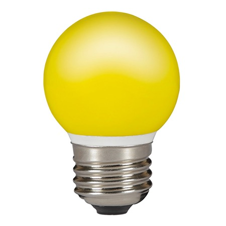 Lampe LED E27 balle de golf Jaune 0,5W IP 44 NON GRADUABLE - SYLVANIA