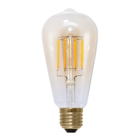 Lampe LED déco E27 2000K 470 lm GRADUABLE 6 W IRC90 Rustica Golden