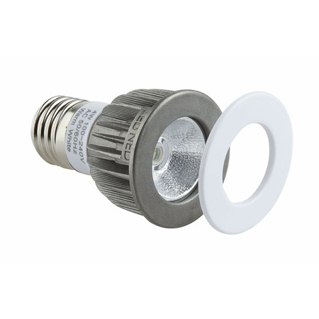 Lampe LED NED culot E27 1 LED CREE 3W 3000 K  55°