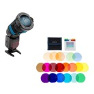 FLASHGELS-COLOR-Filtres et nid d'abeille Rogue Flash Grid 3-in-1 Stacking System