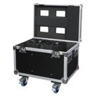 FLIGHT-4SHARK - Flight-case pour 4 projecteurs SHOWTEC Shark Spot One