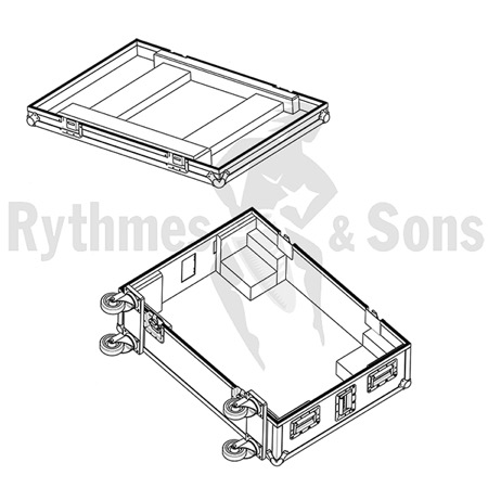 Flight-case Rythmes et Sons pour MA Lighting GRANDMA3 Light