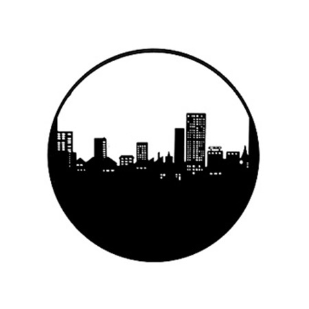 Gobo GAM 211 City skyline - Taille B (86 mm)
