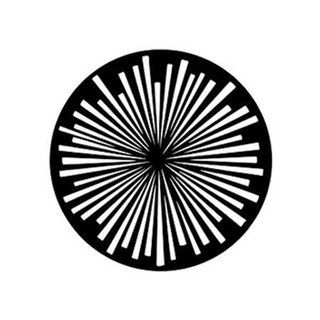 Gobo GAM 235 Radial lines - Taille A (100 mm)
