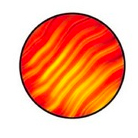 G33001-B-Gobo ROSCO Colorwave 33001 Waves Red - Taille B (86 mm)