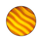 G33002-A-Gobo ROSCO Colorwave 33002 Waves Amber - Taille A (100 mm)