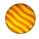 G33002-B-Gobo ROSCO Colorwave 33002 Waves Amber - Taille B (86 mm)