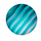 G33004-A-Gobo ROSCO Colorwave 33004 Waves Cyan - Taille A (100 mm)