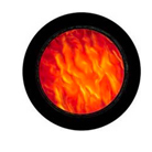 G33101-B-Gobo ROSCO Colorwave 33101 Ripple Red - Taille B (86 mm)
