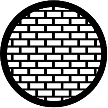 Gobo ROSCO DHA 77527 Bricks - Taille A (100 mm)