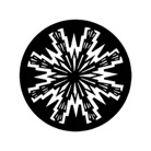 G77784-A-Gobo ROSCO DHA 77784 Aztec Sun- Taille A (100 mm)