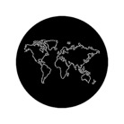 G78086-M-Gobo ROSCO DHA 78086 The world outline - Taille M (66 mm)