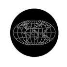 G78088-A-Gobo ROSCO DHA 78088 World map - Taille A (100 mm)
