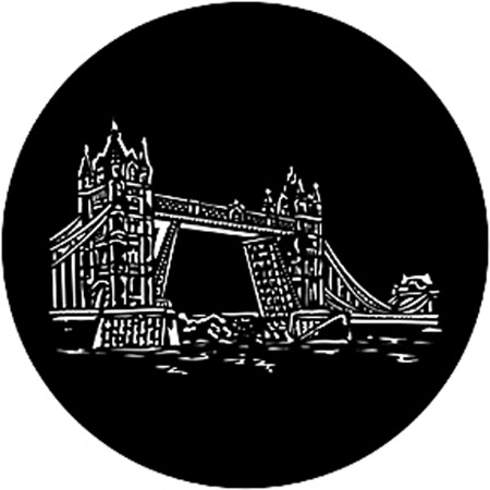 Gobo ROSCO DHA 78144 Tower bridge 2 - Taille A (100 mm)
