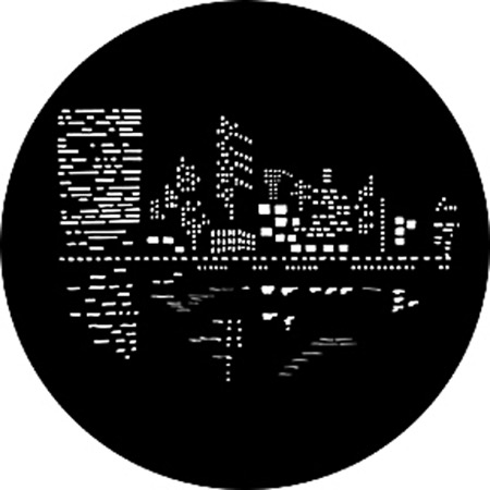 Gobo ROSCO DHA 79023 City lights 2 - Taille B (86 mm)
