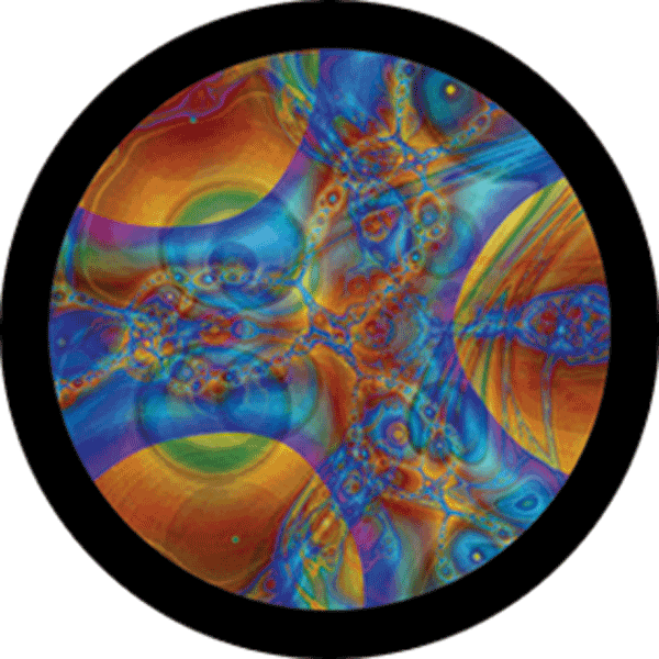 Gobo ROSCO Abstract 86743 Sky-Dye Fusion - Taille B (86 mm)