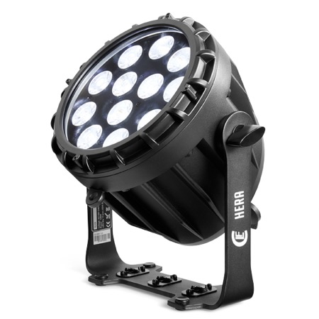 Projecteur puissant 12 leds RGBWA+UV IP65 angle 30° HERA CLF Lighting