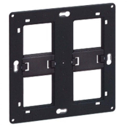 Support universel pour prise MOSAIC 2x5 ou 2x2x2 modules (horizontal)