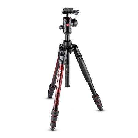 Kit trépied photo aluminium Befree Advanced Rouge MANFROTTO