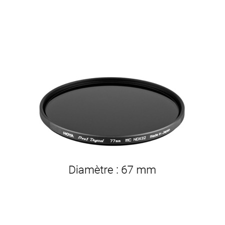 Filtre gris neutre HOYA Neutral Density Pro ND32 - Diamètre : 67 mm