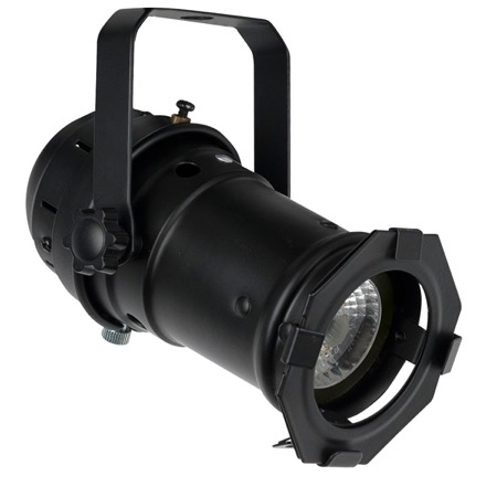 Projecteur PAR 16 Led 10W SHOWTEC noir blanc chaud graduable