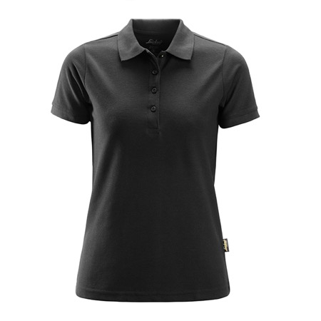 Polo polyester/coton femme SNIKERS - Noir - Taille M