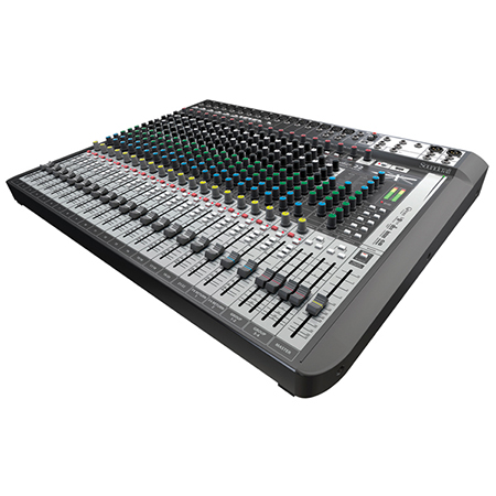 Console live 22 voies, effets, USB 24in/22out Soundcraft