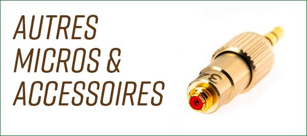DPA accessoires adaptateurs clip adhésif socle pince bonnettes capsule
