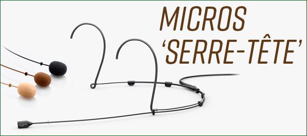 DPA micros serre-tête headset 4066 4088 4166 CORE cardioïde omnidirectionnel SLIM CORE