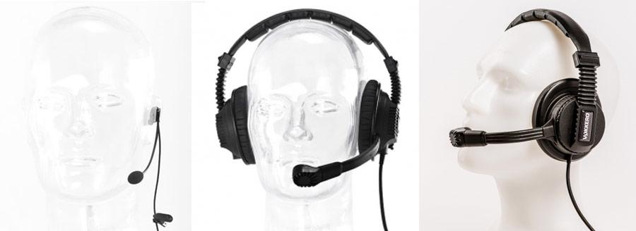 micro casques Vokkero pour intercom mono-oreille double-oreille fermé ultra-léger déporté