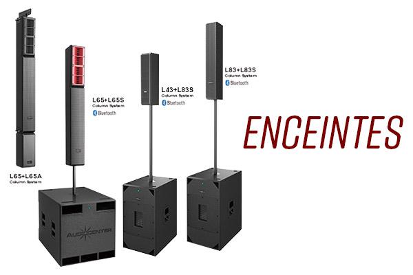 Audiocenter enceintes passives, actives, systèmes amplifiés compactes