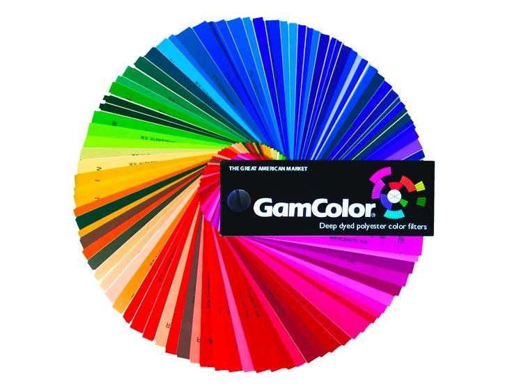 roue couleurs nuancier GAMcolor filtres gélatine