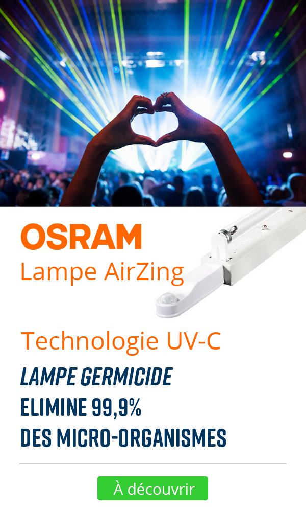 lampe germicide AIRZING OSRAM covid 19 coronavirus