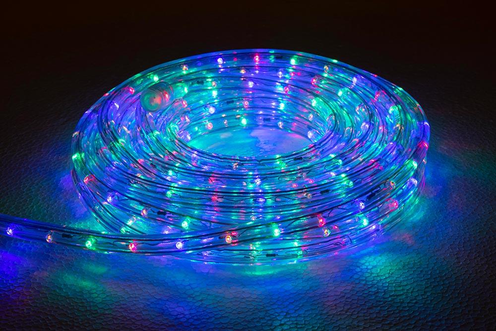 rouleau cordon lumineux LED multicouleurs