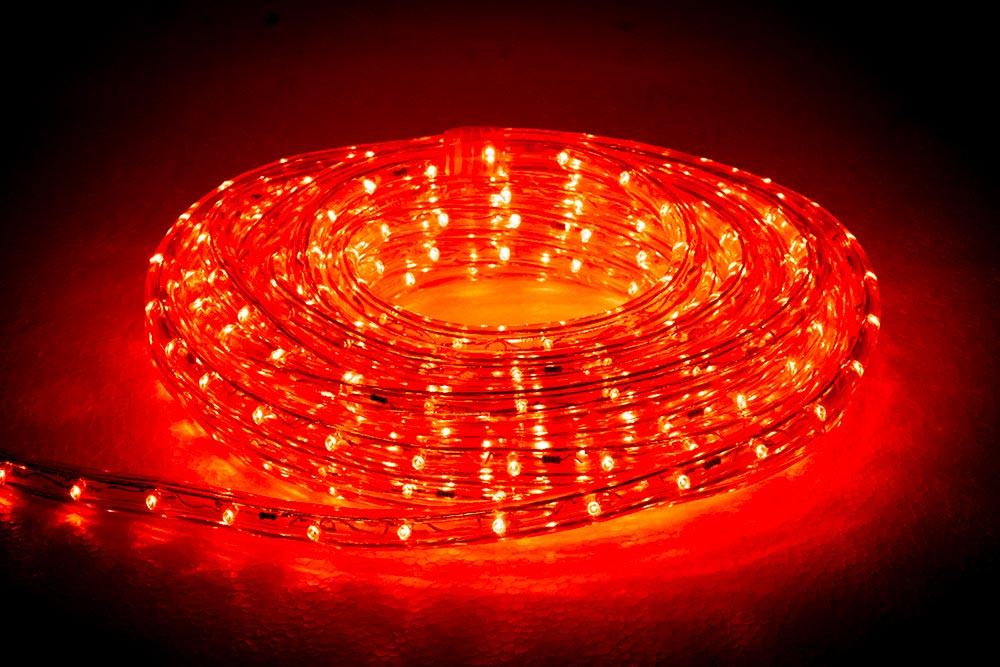rouleau cordon lumineux LED orange