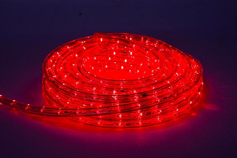 rouleau cordon lumineux LED rouge