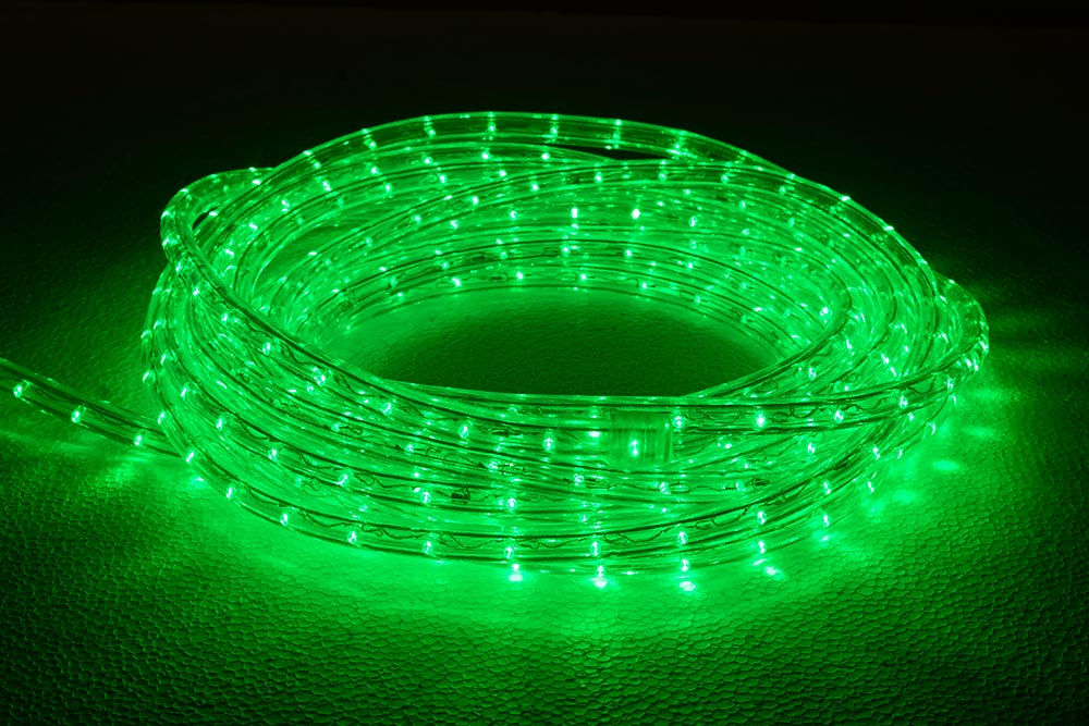 rouleau cordon lumineux LED vert