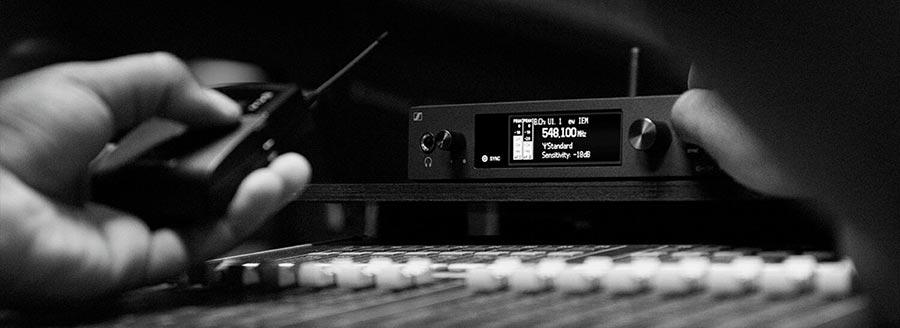 Sennheiser audio pro systemes HF sans fil emetteur recepteur micro