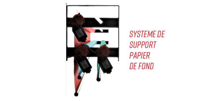 système de support pour rouleaux de papier de fond Manfrotto