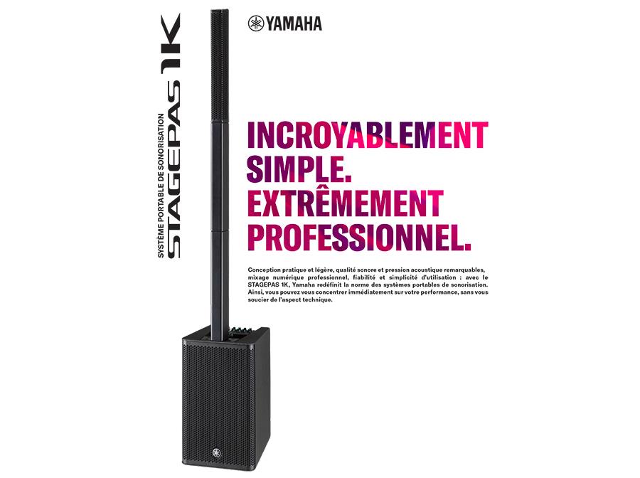 Stagepas1K Yamaha systeme portable de sonorisation